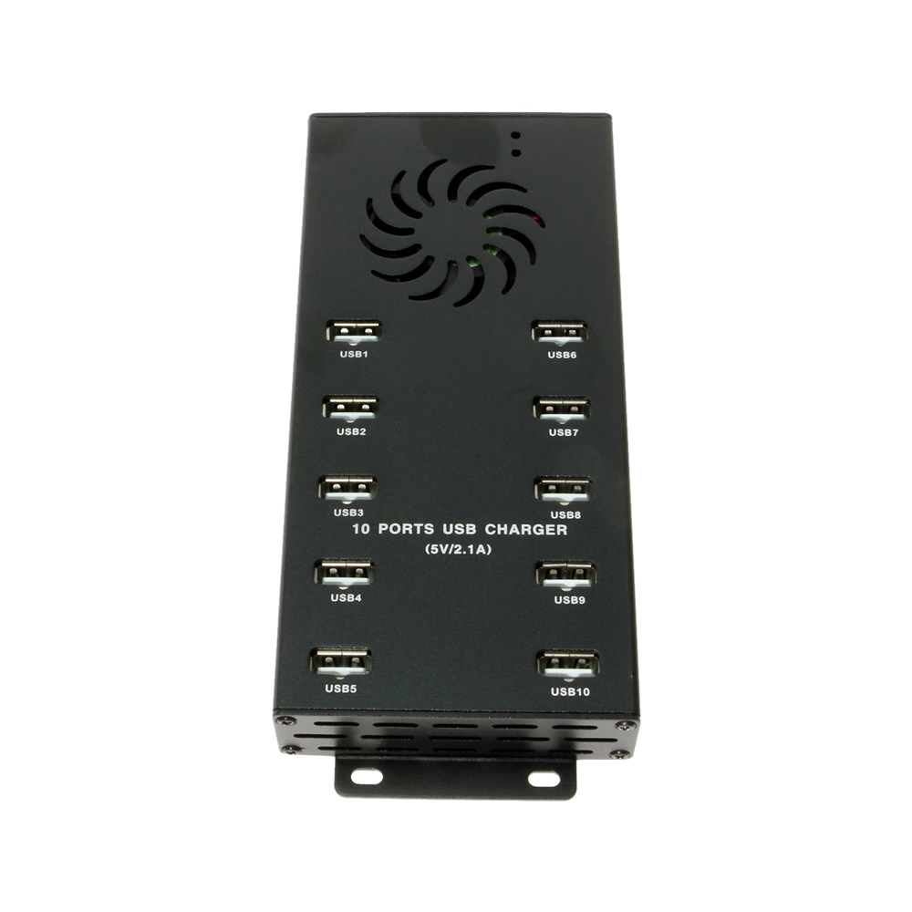 10-Port USB charging station includes external power supply