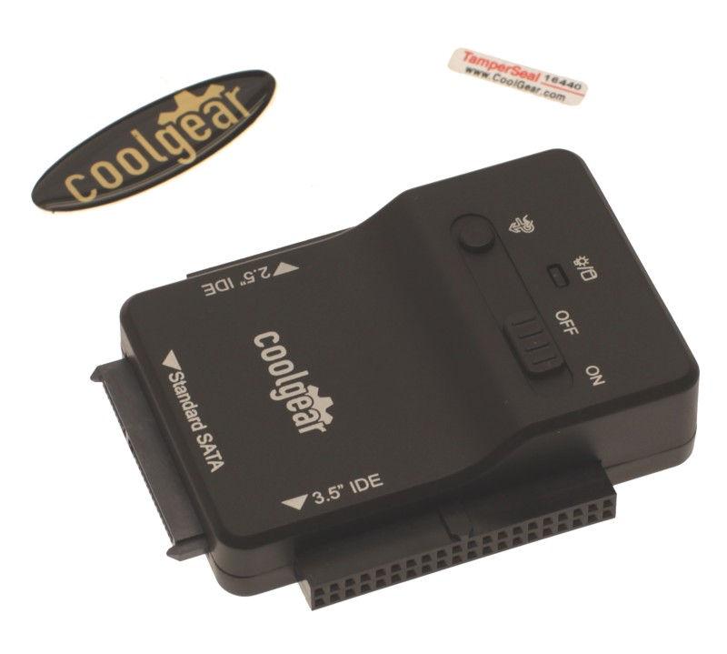 USB 3.0 to PATA and SATA 3.5 and 2.5 inch hard drive adapter