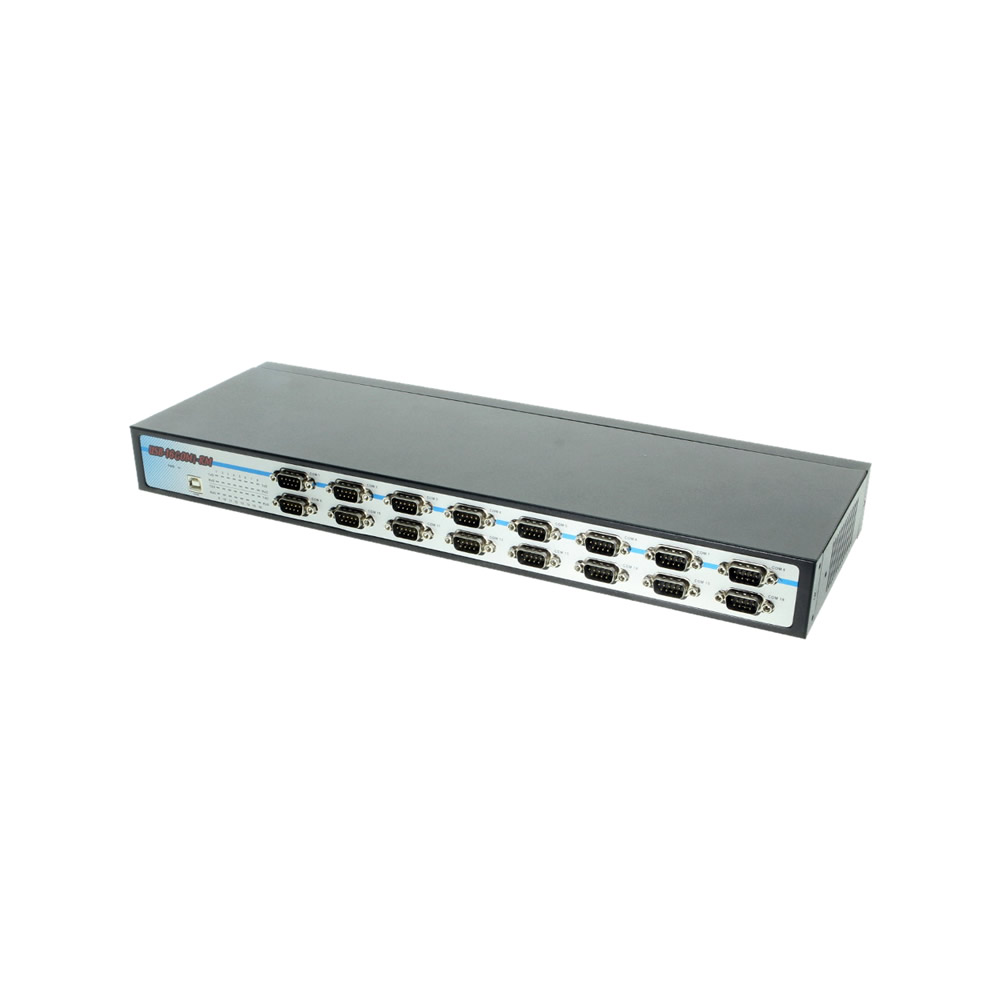 USB to Serial isolated 16 COM RS-232/422/485 adapter with DIN-Rail