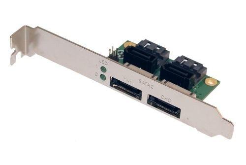 2 Channel eSATA PCI Cable Bracket