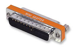 MH Null Modem Adapter DB25M to DB25F, Mini