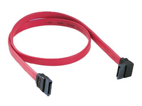 7-pin internal SATA cable with angle molding