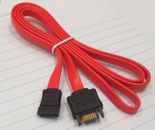 7-pin internal SATA extension cable, female to male 12 Inch Long