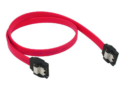 7-pin internal SATA standard cable with metal latch