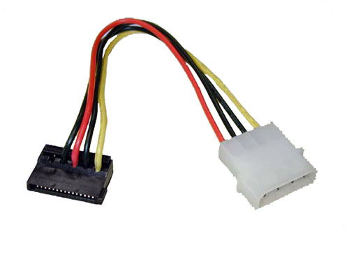 4 pin to 15 pin IDC type internal SATA power dongle cable