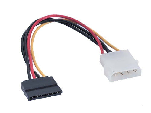 4 pin to 15 pin solderable SATA type power dongle cable