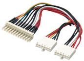 MH Internal Power Cable AT Motherboard Pwr Ext, 8in