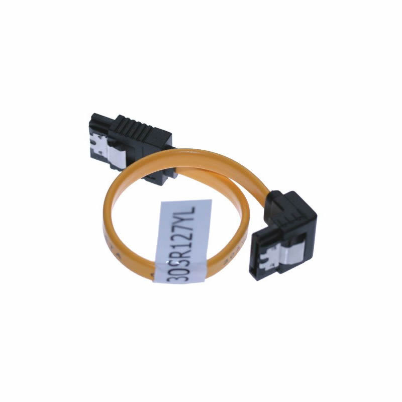 5 Inch SATA II 3Gb/s Latching Cable 30AWG Right to Straight SATA 2