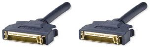 DB50/HP Male to DB50/HP Male, 25 Twisted Pair, Double Shielded, UL2919