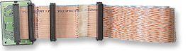 MH Ultra 160 Ribbon Cable 8xDB68/HPM, 2m, w/term