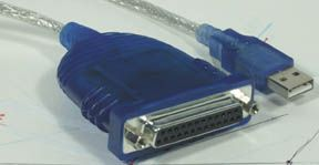 MH Parallel to USB Converter DB25F to USB, 6ft