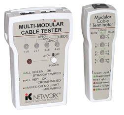 Intellinet Multi Modular Cable Tester RJ11, RJ12, & RJ45