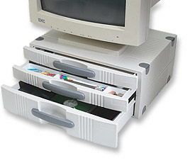 MH Monitor Stand w/Drawers