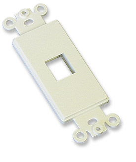 ICN Decora Wallplate Ivory, 1 Outlet