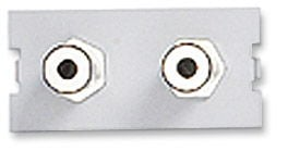 ICN Wall Plate System Dual 3.5mm Stereo Module