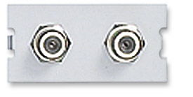 ICN Wall Plate System Dual F Module