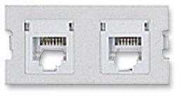ICN Wall Plate System Dual Cat5e Keystone Module