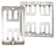 ICN Wallplate Mounting Bracket Flush, Metal, Double Gang