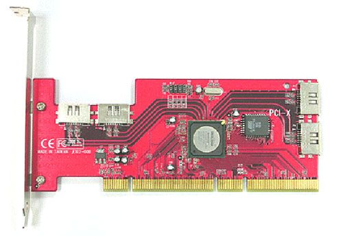 SATA II  150 RAID 4Ports 64bits PCI-X Low Profile Host