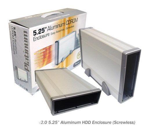 Aluminum 5.25 IDE Optical Drive (CD/DVD) Portable Enclosure