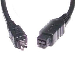 Firewire 800 1394b 9 to 4  Cable 6 ft. DV iLINK Camcorder Cable!