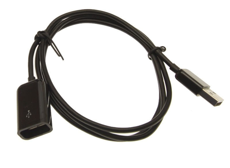 3ft. USB 2.0 Hi-Speed A Male to A Female Extension Cable Black
