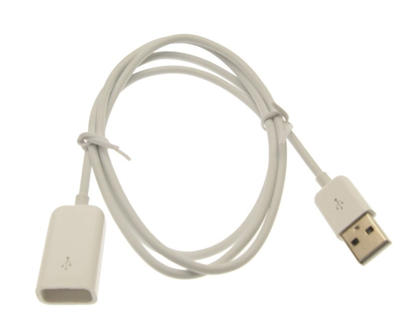 3ft. USB 2.0 Hi-Speed A Male to A Female Extension Cable Pure White
