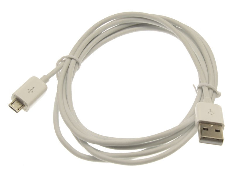 6ft. USB 2.0 Hi-Speed A to Micro B Device Cable Pure White