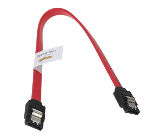 12 Inch SATA II 3Gb/s Latching Data Signal Cable 7-Pin Internal 26AWG
