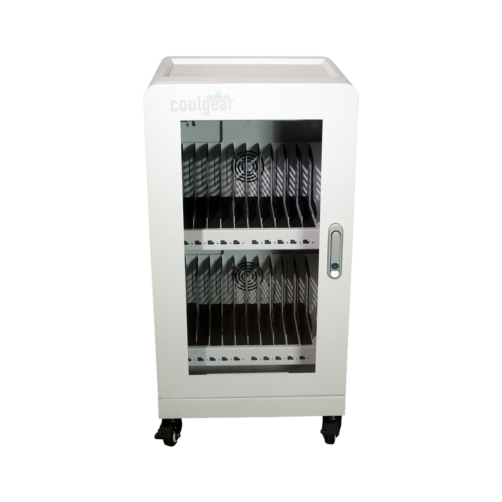 USB PD Charging Chamber 20 Port Charging Station with Locking Door and Wheels