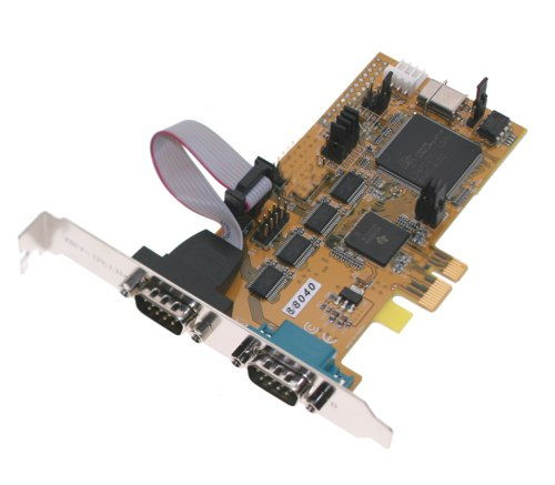 2 port Serial RS-232 PCI-Express 1x Card