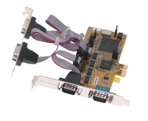 4 port Serial RS-232 I/O PCI-Express 1x Card