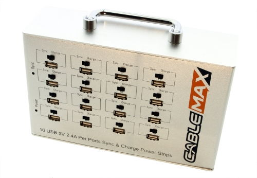 Charge Sync USB 16 Port Power Station 5V 2.4A Per Port
