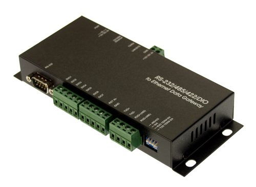 Industrial RS-232/485/422/DIO to Ethernet Data Gateway TCP/IP