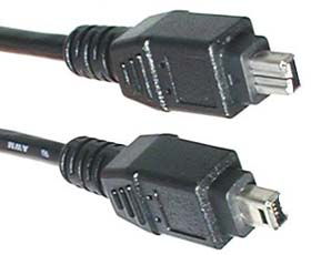 IEEE 1394 FireWire 4pin to 4pin Cable 15 ft. DV iLINK