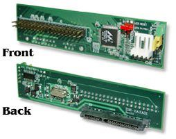 IDE-SATA01 is a Parallel ATA to Serial ATA Host mode Bridge Board featuring Marvell 88SA8040 Serial ATA bridge Controller.