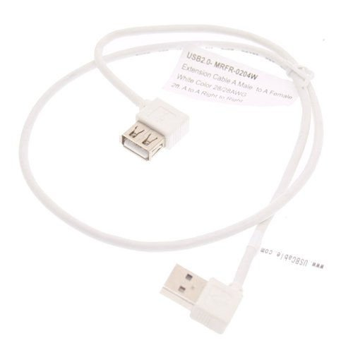 2ft. USB 2.0 Extension Cable A male to A Female Right Angle to Right Angle