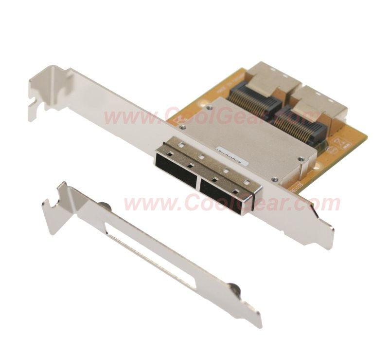 Mini SAS Host PCI Adapter Bracket SFF-8087-SFF-8088 36Hx2-26TX2