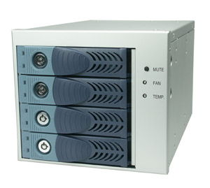 4-in-3 Internal S-ATA Hot-swap Aluminum Enclosure Internal Mount