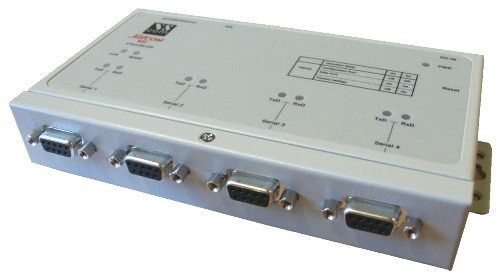 4 Port Rs-232 DB-9 to TCPIP Netcom Advanced Serial Device Server