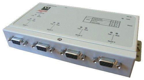 QUAD Port Rs-232/422/485 DB-9 to TCPIP Netcom Advanced Serial Device Server