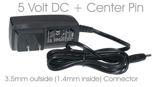 5V DC Mini Adapter for USB 2.5 inch CoolGear Brand Enclosures External