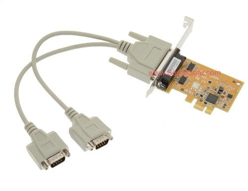 2-Port RS-232 PCI Express Serial Board Vista/XP Oxford Chip
