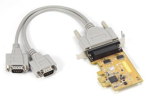 Low Profile 2-Port RS-232 PCI Express Serial Board Vista/XP Oxford Chip