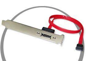 PCI SATA Female Port External PCI Slot Bracket