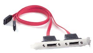 eSATA --- > External SATA 2-Port Bracket Cable 10inch eSATA External Bracket