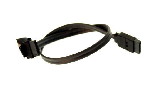 12-Inch Serial ATA Signal Cable UltraFlex Black One Side Right Angle
