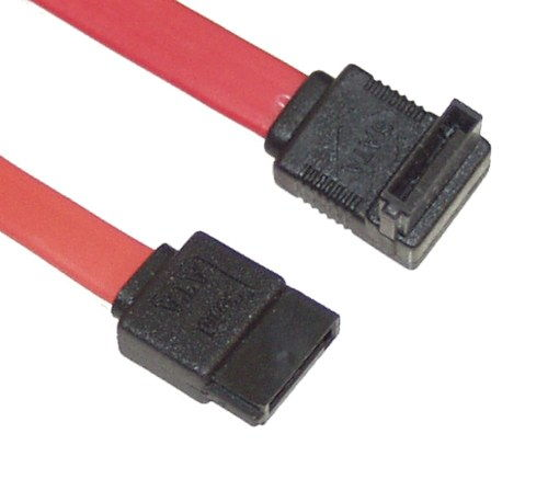 50cm 20-inch SATA Internal Device Cable Straight to Right Angle connector