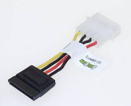 Power Molex 4-position to one 15-position Serial ATA Adapter 6-inch adapter cable