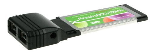 IEEE1394b  FireWire 800  ExpressCard for MAC and PC for New Laptops